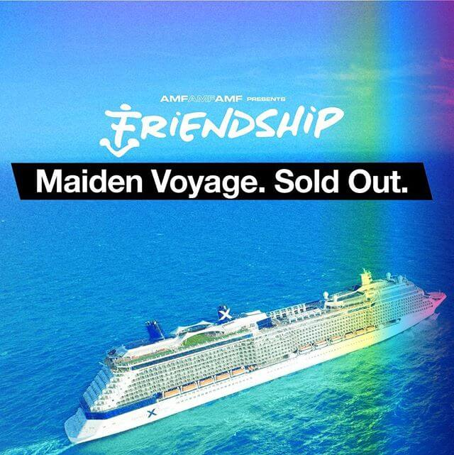 Thank you! We're overwhelmed by the support and happy to announce that in two short days, we have SOLD OUT our maiden voyage of Friendship!  Major news coming for 2019 | Sign up for new adventures here on amfamfamf.com